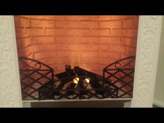 Камин с системой эмитации 3D огня (холодный огонь) Также портал под него, своими руками. Экономим 90 000р..