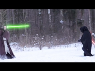 Star wars- modern lightsaber battle