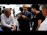 Stanley Tucci Keeps Sophia Myles Laughing on the Set of Transformers: Age of Extinction
