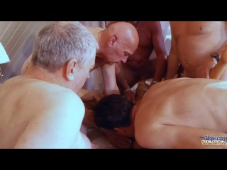 [oldje] 470 old school gangbang reloaded with gina gerson [2014 г., oldman & young girl dp, gang bang 720p, siterip]