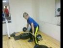 Ходунов Саша. Тяжёлая атлетика. Подъём на грудь. 19 кг.
