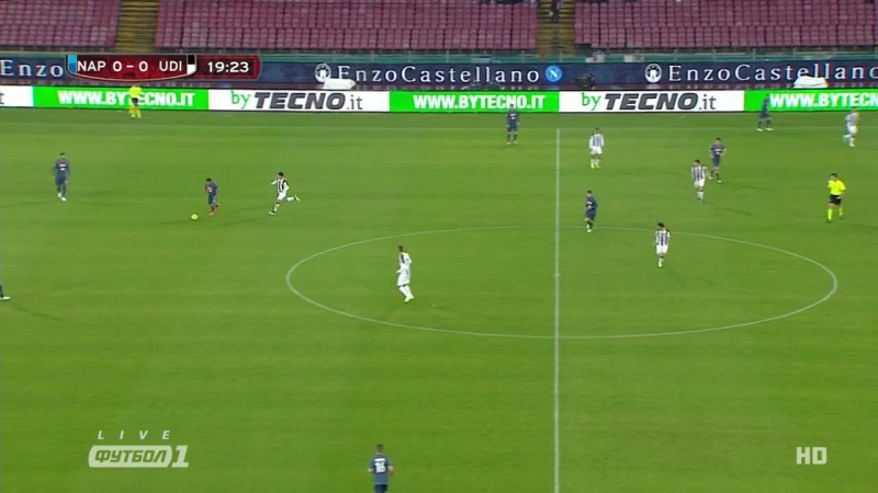 Кyбок Итaлuu 2014-15 / Coppa Italia / 1/8 фuнала / Нaполu – Удuнезе / 1 тайм [720p HD]