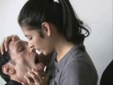 dirty girl spit in slaves mouth