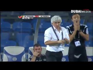 Защитник Аль-Насра Махмуд Хамис потрясающим по красоте ударом решил исход поединка в пользу своей команды во встрече с Аль-Дафрой на 90-й минуте встречи.