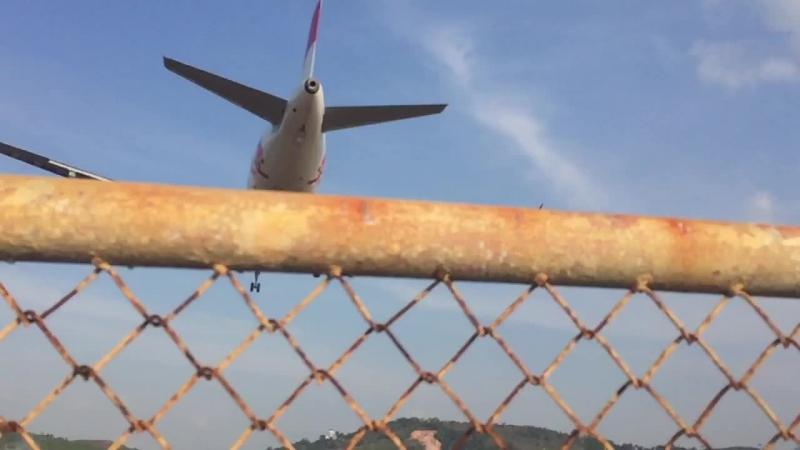 Air Asia landing in Phuket Airport