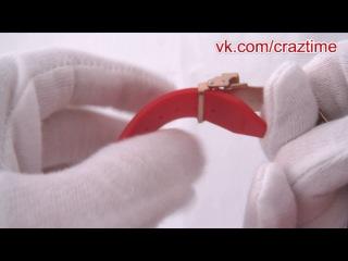Купить наручные часы Hublot красные (обзор застежки)