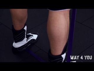Приседания  с резиной для тренировок Way4you
