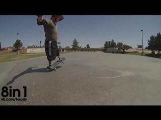 Безногий инвалид-ветеран армии США снова катается на скейте / Ian Parkinson  Amputee Afghanistan Veteran Skateboards