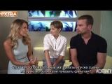 Rus Subs: Интервью Шейлин Вудли и Тео Джеймса для «Extra».