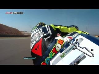 Мото GP Арагон круг от Валентино Росси с гироскопической камеры