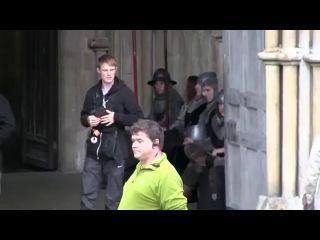 Бенедикт Камбербэтч на съемках сериала -Пустая Корона- 2014