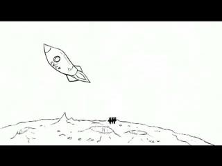 Три богатыря и Астероид-Three Russian Bogaturs & Asteroid (animation)