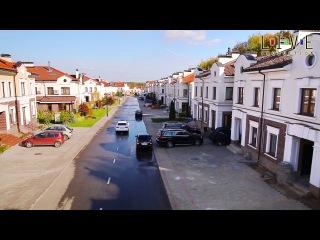 Посёлок «Суханово Парк» с высоты птичьего полета. Съёмка с мультикоптера.