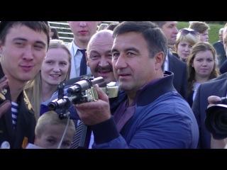 Мэр Набережных Челнов Василь Шайхразиев показал свои навыки по стрельбе на тренажере СКАТТ