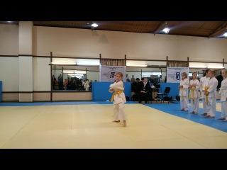 Соревнования по карате. ката на желтый пояс Хьян шодан