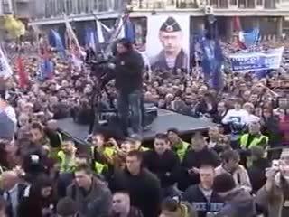 МИТИНГ В СЕРБИИ ЗА НОВОРОССИЮ И ЕДИНСТВО С РОССИЕЙ! (15.11.2014 БЕЛГРАД)