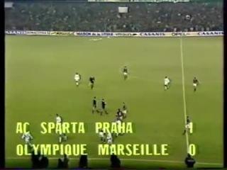 42 ECCC-1991/1992 Sparta Praha - Olympique Marseille 2:1 (06.11.1991) HL