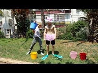 Ice Bucket Challenge :DDD,уговорил другана сделать хххххх ржач
