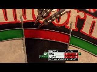 James Wade vs Jamie Lewis (PDC World Darts Championship 2015 / Round 1)