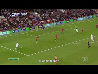 Ливерпуль 4:1 Суонси   Английская Премьер Лига 2014/15   19-й тур