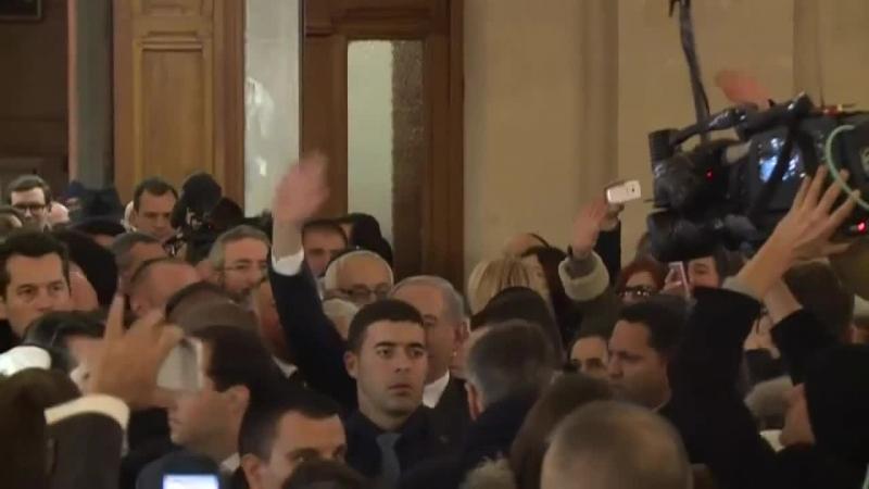 François Hollande et Benyamin Netanyahou à la Grande Synagogue