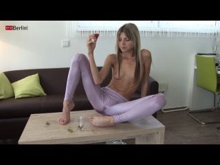Eroberlin 18yo cassandra leather teeny outdoor blond skinny 3