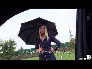 StrandedTeens / MOFOS - Christen Courtney - Stewardess Gives Sloppy Road Head (03.10.2014) 720p