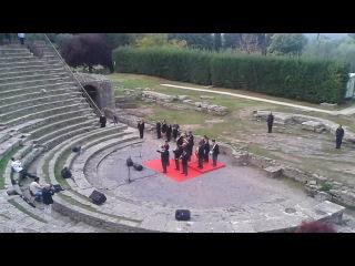 Inno di Mameli nell'anfiteatro romano di Fiesole