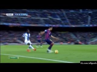 Барселона 0-1 Эспаньол / Гол Гарсия