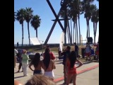 September 23: Video of Justin on set with David Hasselhoff in Venice Beach, California