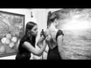 Японская Калиграфия и Суми-Э на спине нашей модели от Катерины Черной