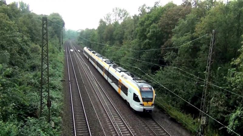 Zugverkehr Eisenbahn im Ruhrgebiet - Personenzuge und Guterzuge