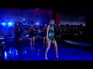 Taylor swift - welcome to new york (live david letterman 2014)