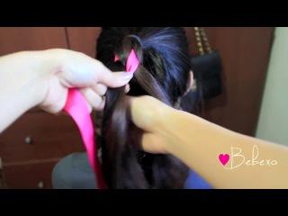 Как заплести нобычную косу с лентой