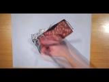 Невероятный 3д рисунок шоколадки с фольгой