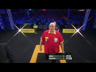 Mervyn King vs Andrew Gilding (Players Championship Finals 2014 / Round 1)