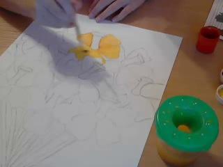 рисуем букет цветов №3