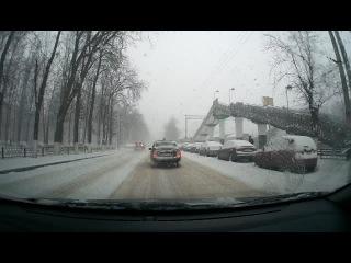 г.Раменское, Сбили человека возле ж/д ст. Фабричная на пешеходном переходе, 25 декабря 2014г. в 11:52