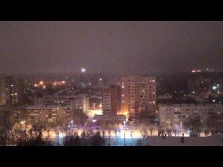 Новый год. Вид на Юность. Салюты с 17 этажа!