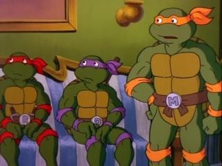 Черепашки Мутанты Ниндзя (1987). Сезон 4, серия 14. Элементарно, черепашонок (Elementary, My Dear Turtle)