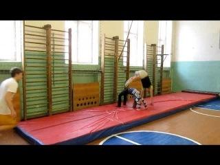 урок физической культуры в 11 классе, раздел гимнастика