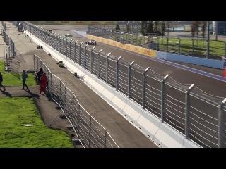 Formula 1 гран-при России. Гонки поддержки GP3 свободные заезды.