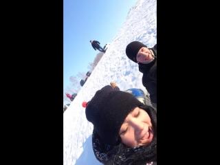 Белая гора 31.01.2015 ( с Ваньком и Иринкой)