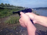 Тест Gletcher Parabellum на фоне дохлых моллюсков и лодки)))