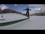 Park City Mark and Mikkel cruising Park City (snowboard Shred Bots team tricks)