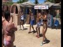 Танец аниматоров на пляже. Египет сентябрь 2014