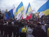 Виконання державного славня, луганський Майдан, 8.12.2013