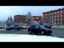 Две иномарки не поделили перекресток улиц Архангельское шоссе и проспекта Ленина. Северодвинск.