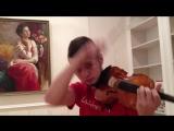 парень классно играет на скрипке песню - KReeD - Самая самая