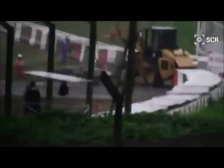 Любительское видео страшной аварии Жюля Бьянки на Гран При Японии 2014